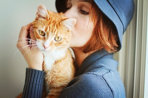 A redhead and a kitten? In the same picture? BOY HOWDY I MUSTA STRUCK GOLD