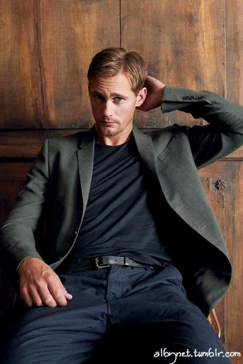 Hello good looking! Alexander Skarsgard, GQ Germany, December 2010.