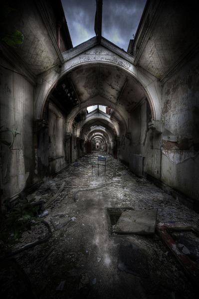 Abandoned asylum W by andre govia on Flickr.
