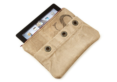 "Mail Satchel iPad Case ""Take an old mailman satchel, cut it up, form it, and you have this iPad case. Lined in ""ultrasuede"" to protect your iPad, the case offers a unique look and protection from the elements. The iPad case world seems to have endless options. Available from Uncommon Goods."""