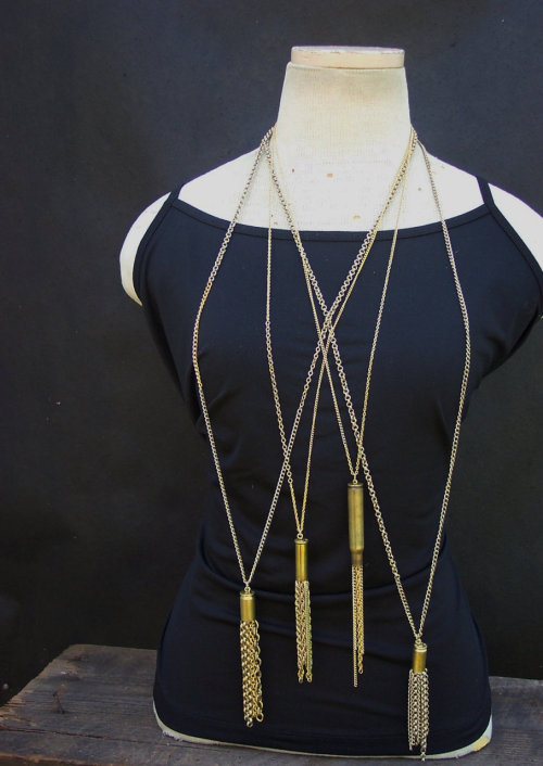 Tassel necklaces from amberhatchettdesigns.