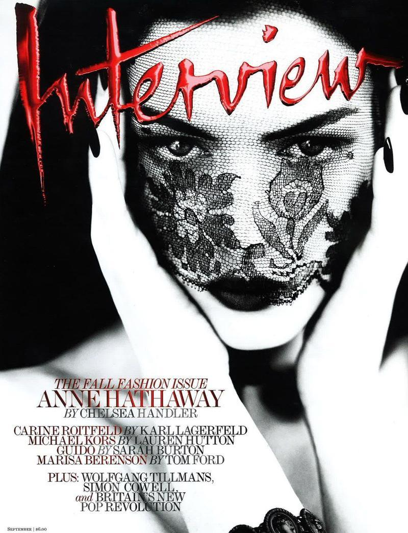 Anne Hathaway photographed by Mert & Marcus for the September 2011 cover of Interview Magazine. I am DYING.