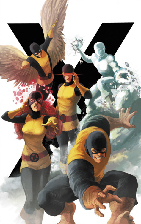 j0elg:  marcusto:  Remember when i asked about the original XMen thing a while ago? Well I did some loose pencils and gave it to my friend Ian Herring ( http://156thmongoose.blogspot.com/ ) to paint and he did a fantastic job on it! I'm pretty excited about this so I will make this and the Supergirl one into a print available at the Toronto Fan Expo next weekend as well as following conventions such as Emerald City Con in Seattle.  this turned out fantastic!  Ian's colours over your work look awesome!