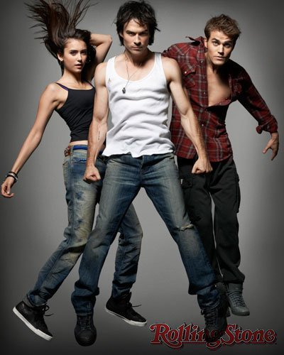justianjosephsomerhalder:   Nina, Paul and Ian for Rolling Stone   Paul looks like if he had a hump on his back..