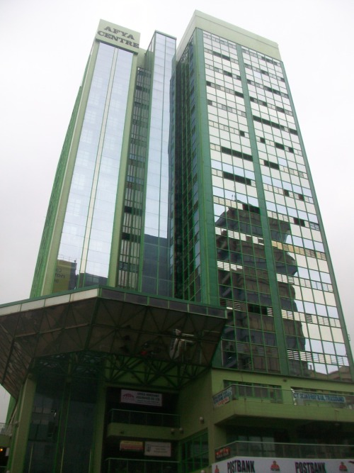 The AYFA Centre in downtown Nairobi.