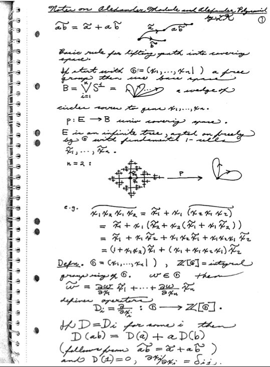 Here's one from Louis Kauffman's notes on the Alexander polynomial.