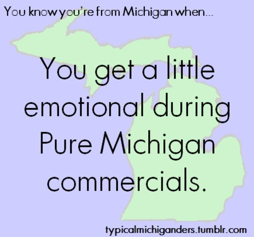 typicalmichiganders:  Credit: greatlakesstate   A little emotional is not even appropriate. I becoming a sobbing moron for 30 seconds.