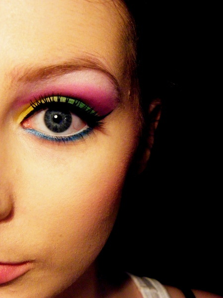 beautylish:  What fun colorful makeup by Beautylish user Eimear B.! Check out this makeup tutorial to get a similar look!