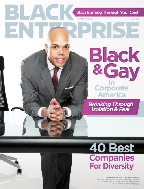 fuckyeahlesbianliterature:  July edition of Black Enterprise magazine.