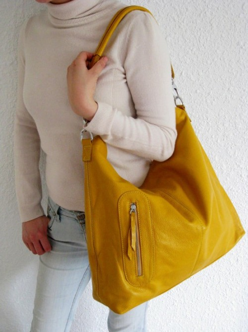 stylishlymine:  STYLE IS: POW…A YELLOW HOBO for YOUR SHOULDER!