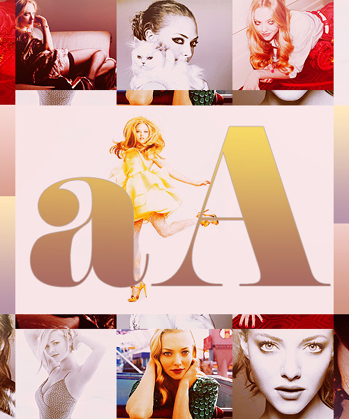 CELEBRITY ALPHABET  ● A ● Amanda Seyfried ——- asked by beautyangel