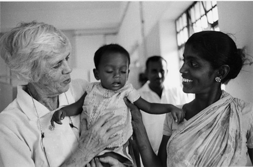 peacecorps:  Lillian Carter, Peace Corps Volunteer and mother of President Jimmy Carter, works as a nurse in a hospital. India - 1968