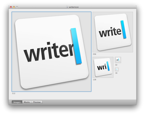 iA Writer - The icon adapts when it is displayed in different sizes. /via Simon