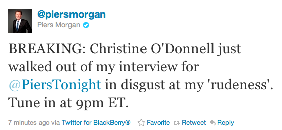 "brooklynmutt:  @piersmorgan ""Breaking"" HA!  I know what I'm watching tonight."