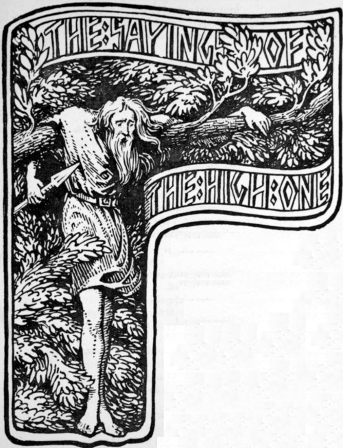 Odin's Self-Sacrifice by H. G. Collingwood