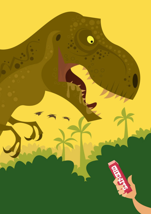 @stan_chow's Jurassic Park illustration for New Empress Magazine. See more of Chow's work here. stanleychowillustration:  Jurassic Park is coming out on Blu-Ray soon… for  New Empress Magazine