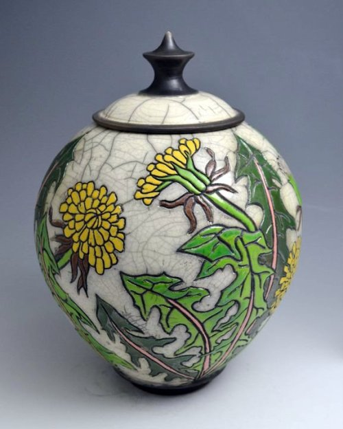 JoAnn Axford: Dandelion covered jar