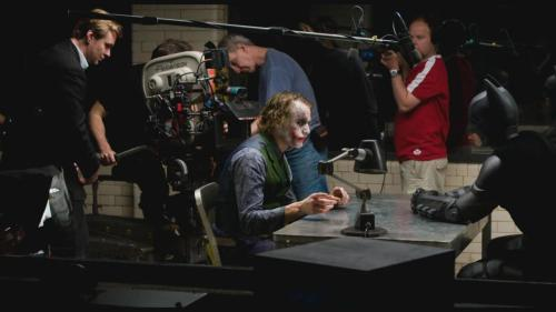 fuckyeahdirectors:  Christopher Nolan, Heath Ledger and Christian Bale on set of The Dark Knight  This makes me so happy.