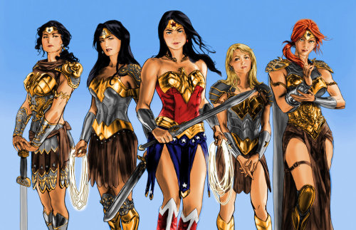 hayleyquinnn:  This is five kinds of awesome. Wonder Women, by Josh Press.