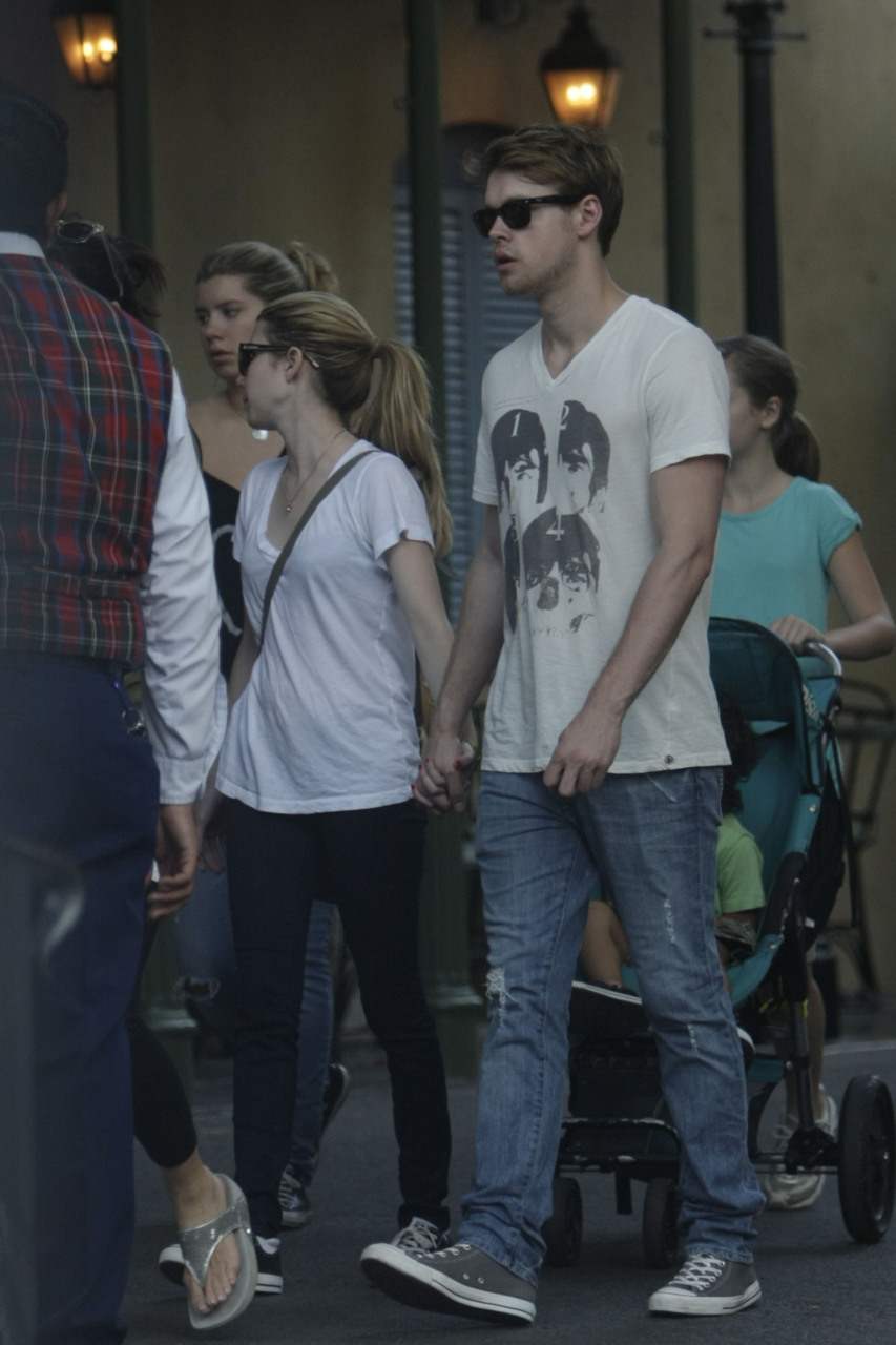 Emma Roberts and Chord Overstreet spend the day together at Disneyland - August 15, 2011