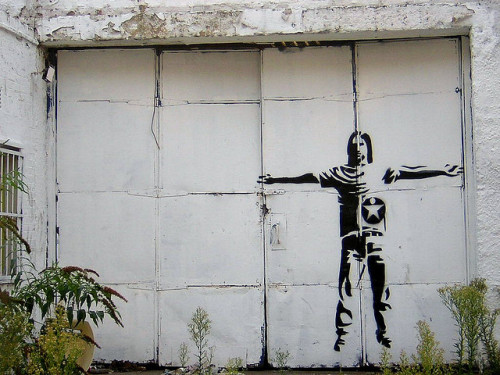 Jesus by Banksy by John Wennerberg on Flickr.djbereal.tumblr.com