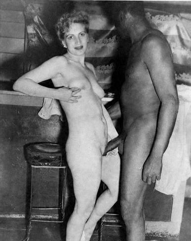 Vintage interacial porn when she