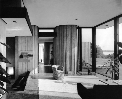 fuckyeahbrutalism:  Labyrinth House, Southport, Connecticut, 1966 (John M. Johansen)