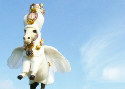 Gotta luv etsy.  Magical flying donkeys for sale. sc gift baskets