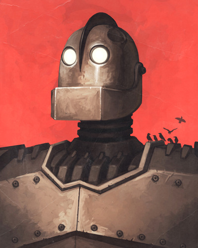inkwings:  The Iron Giant by MikePMitchell