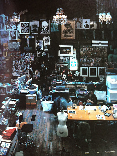 twenty4hundred : Jun Takahashi's studio (via bostonroll)