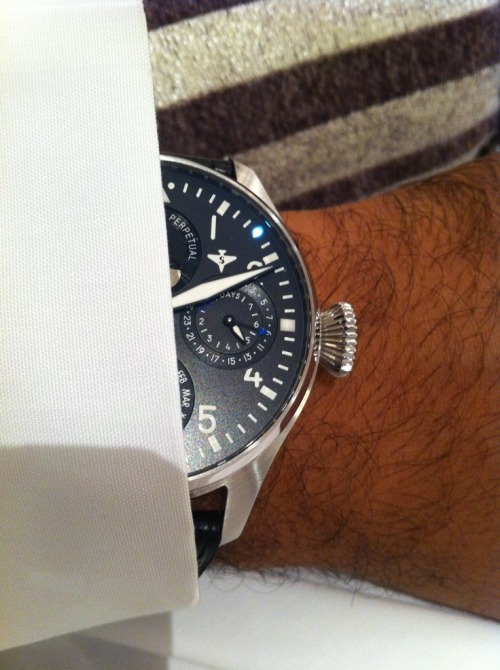 IWC's Big Pilot Perpetual Calendar. A great watch for any guy that shops at Big & Tall stores.