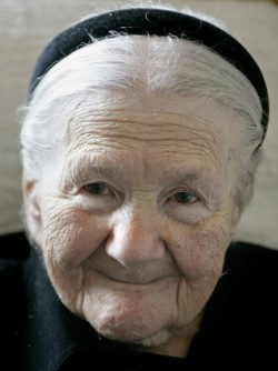 Meet Irena Sendler (1910-2008) She was a 98 year-old Polish woman at her time of death. During World War II, Irena worked in the Warsaw Ghetto as a plumbing/sewer specialist. She dedicated herself to smuggling Jewish children out. Infants were carried in the bottom of the tool box she used and older children in a burlap sack she had in the back of her truck. She also had a dog in the back that she trained to bark when the Nazi soldiers let her in and out of the ghetto. The soldiers wanted nothing to do with the dog and the barking covered the kids' and infants' noises. Irena managed to smuggle out and save 2500 children during this time She eventually was caught and the Nazis broke both her legs, arms and beat her severely. Irena kept a record of the names of all the kids she smuggled out and in a glass jar buried under a tree in her backyard. After the war, she tried to locate any parents that may have survived and reunited some of the families but most had been killed. She then helped those children get placement into foster family homes or adopted. In 2007, Irena was up for the Nobel Peace Prize. She was not selected. Al Gore won for presenting a slide show on Global Warming. That's our society for you.