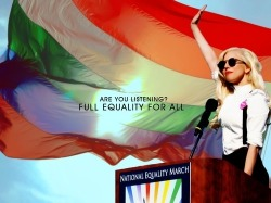 lgbtq-gmh:  FULL EQUALITY FOR ALL. Lady Gaga's strength and support GMH.    lgbtq-gmh.tumblr.com