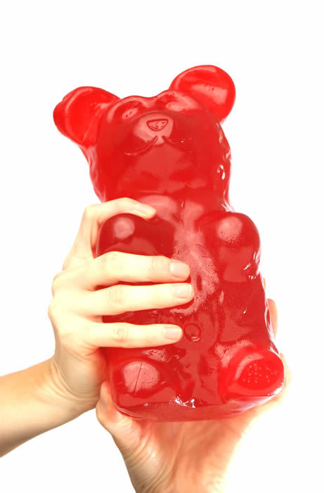 "Worlds Largest Gummy Sweets!!!!!!Price - $29.99  These gummy behemoths are as sweet, soft, chewy and delicious as their lilliputian cousins except about a thousand times better. The World's Largest Gummy Bears!™ are over 1,000 times larger than a regular gummy bear! Over 90 servings per World's Largest Gummy Bear! World's Largest Gummy Bear is BIGGER than a FOOTBALL!  World's Largest Gummy Bears!™ are truly the ""World's largest edible gummy bear made for retail distribution World-Wide!"". World's Largest Gummy Bears!™ are hand made by gummy artisans in the USA with the best ingredients World's Largest Gummy Bears!™ are gluten-free"
