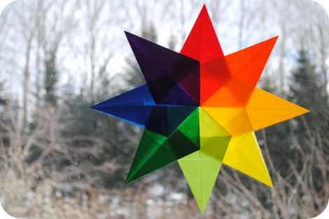 Waldorf Window Stars {How to} Found at: http://gardenmama.typepad.com