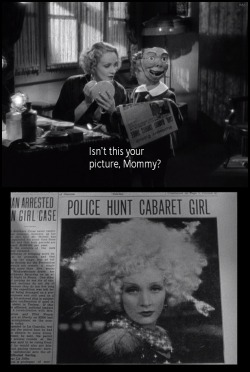 the-asphalt-jungle:  Dickie Moore and Marlene Dietrich Blonde Venus (1932)