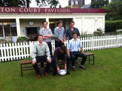 The Costelloe boys get ready for the 'Team Photo' !