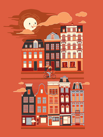 1000drawings:  Amsterdam! by Marcoooooo  the homeland.