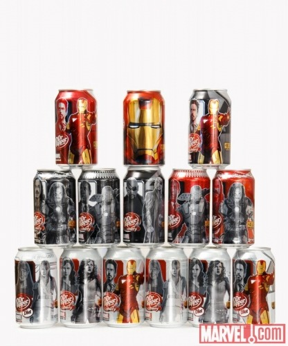 iron man dr.pepper cans