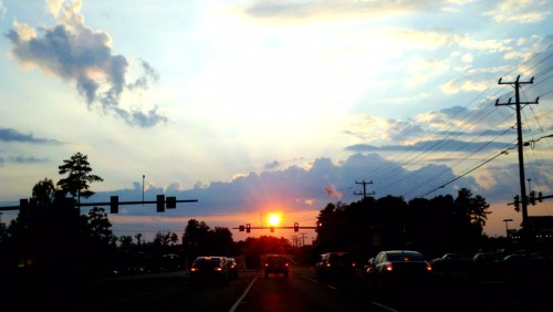 Driving into the sunset last night