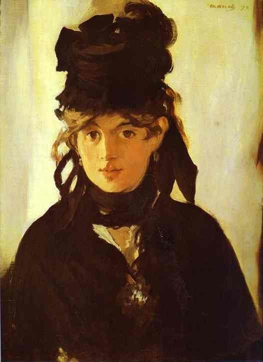 hottiesofarthistory:   Edouard Manet, Portrait of his sister-in-law, Berthe Morisot