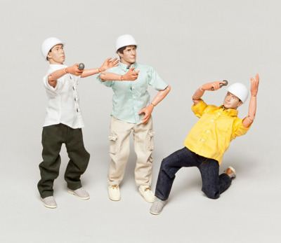 Beastie Boys Action Figures Being Sold to Raise Money for Charity The recently released action-packed music video from the Beastie Boys titled, Don't Play No Game That I Can't Win,  features plastic action figure toys in the likenesses of the New York  City musical trio to narrate the video's story. A few sets of these  'dashing figures' are being sold on the Beastie Boys website and sale proceeds will go to charity. Packed in a metal box, the very limited toy doll trio arrives with a  variety of costume changes including, white jump suits, safety goggles.  work boots, extra hand attachments and more. Produced by Nowhere Ltd. and Bathing Ape,  these action figures are the ultimate collector's item for a fan of the  Beastie Boys. Included with each sale is the 2-disc deluxe version of  the Beastie Boys Anthology: The Sounds of Science, featuring an 88 page full-color book with photos and lyrics. Two charities that help children with cancer will equally benefit from the sale of these tiny poseable hip-hoppers, The Pablove Foundation and Alex's Lemonade Stand. photos by The Beastie Boys Via Laughing Squid