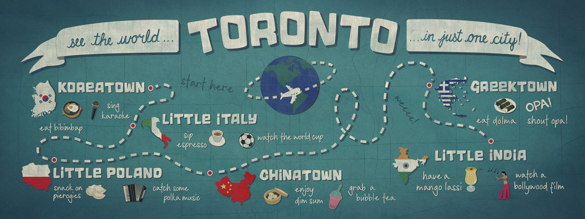 Toronto: See the world in just one city by Megan Marin More at They Draw and Travel: maps illustrated by artists from around the world