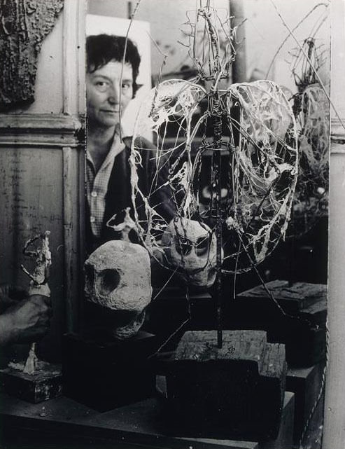 chagalov:  Germaine Richier travaillant à une sculpture, ca 1955 -by Brassaï   Thank you, Chagalov