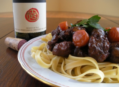 This is Julia Child's Where's the Beef?! Bourguignon from Vegan Valentine! It looks so damn good and the recipe isn't too intimidating so I think I'll try it. I've come to realize as death draws closer (old!) that I'm much more a chef than a baker. I think this is because I'm way more into savory foods than sweets. Don't get me wrong, I won't kick a vegan cupcake out of bed, but I'd much rather eat a bowl of kale, quinoa, and black beans covered in Yumm Sauce. Or not covered in Yumm Sauce, I love that shit straight up. In fact, Mark likes to makes fun of my bland palate because he's a little asshole. Now, a mini-rant: People like to blame the fact that there are fat vegans on vegan junk food. Well, vegan junk food might be the reason someone is carting around an extra 10 to 20 pounds of compassionate chub, there are lots of fat vegans who eat a mainly whole-foods diet and who are STILL FAT. Losing weight is all about calories, and lots of whole foods have lots of calories. You can restrict your consumption, or you can have a naturally smaller appetite (GENETICS) or a faster metabolism (GENETICS), or not be on birth control that fucks with your body (BEING A WOMAN) and that's all good but me, I like to eat bean soup and kale salad until I'm full, and I'm not into restricting myself because we live in a totally fat-phobic society. I mean, I eat about the same, if not a little less, than my boyfriend and exercise more often and I'm fat and he's not! How do you explain that?? Oh yes, SCIENCE. Everyone's body is different and fat and healthy is not an oxymoron. Also, it's pretty fucking easy to be both when you eat a mainly whole foods vegan diet and also a few cupcakes when you want 'em. That's what works for me, I don't know what works for you, but I'm cool with it, cause you gotta do you and I gotta do me, and honestly, I don't give a shit what you look like because we're not boffing! If we were, then I'd probably have a lot to say about your haircut and your shoes. SO FUN! Anyway, make the recipe! That's what you came here for! You always get a little extra awesomeness/crazy when you come to Vegansaurus; we make you work for your dinner.