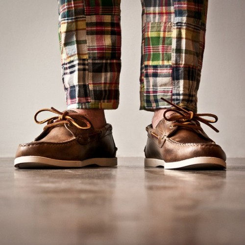 Boat shoes, madras patchwork pants, and of course, naked ankles.