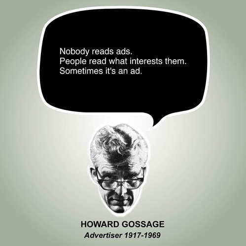 nevver:  Nobody Reads Ads  strongly agree!