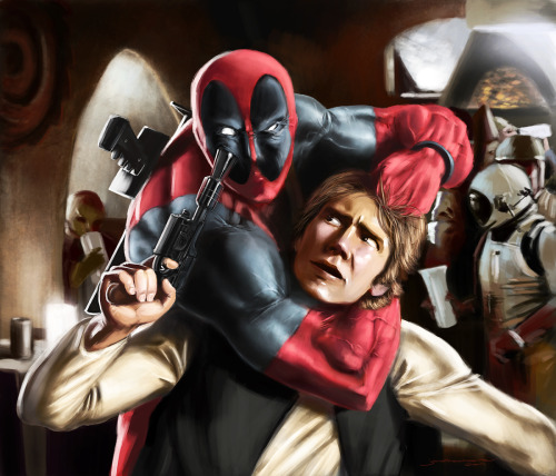Today's match-up is already posted! Deadpool vs. Han Solo. :)