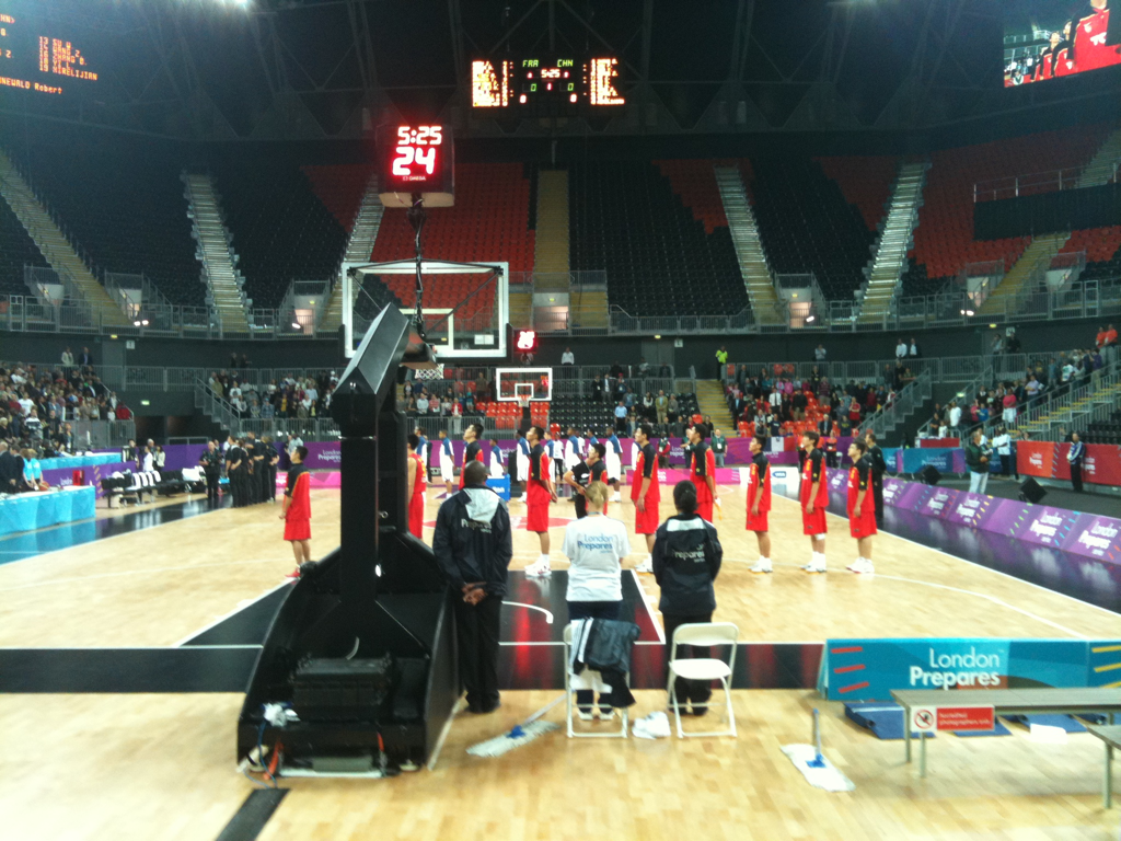 France vs China. London Prepares Basketball Invitational.
