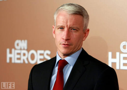 "life:  Did anyone see Anderson Cooper get the giggles today while doing a ""Ridiculist"" segment about actor Gerard Depardieu? Oh Anderson Cooper… He's got arguably the most recognizable and trusted face in TV news today, and it certainly doesn't hurt that said face is easy on the eyes. He's Anderson Cooper, the intrepid CNN journalist who pops up to tell it like it is in the latest global hotspot, yet still has time to jet back to the States to moderate political debates or promote good causes. This week in Egypt, the newsman even suffered a beating at the hands of pro-Mubarak forces in the midst of clashes in Cairo. (He was not seriously injured.) Take a look back at the fascinating life of a fascinating man — the Silver Fox.  This man. <333"